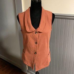 Woolrich Burnt Orange Button Front Vest